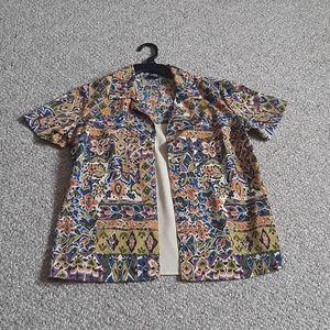 Lelementz Crinkle Fabric Layered Top